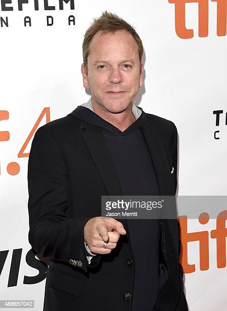Actor Kiefer Sutherland attends the 'Forsaken' premiere during the 2015 Toronto International Film Festival at Roy Thomson Hall on September 16 2015...
