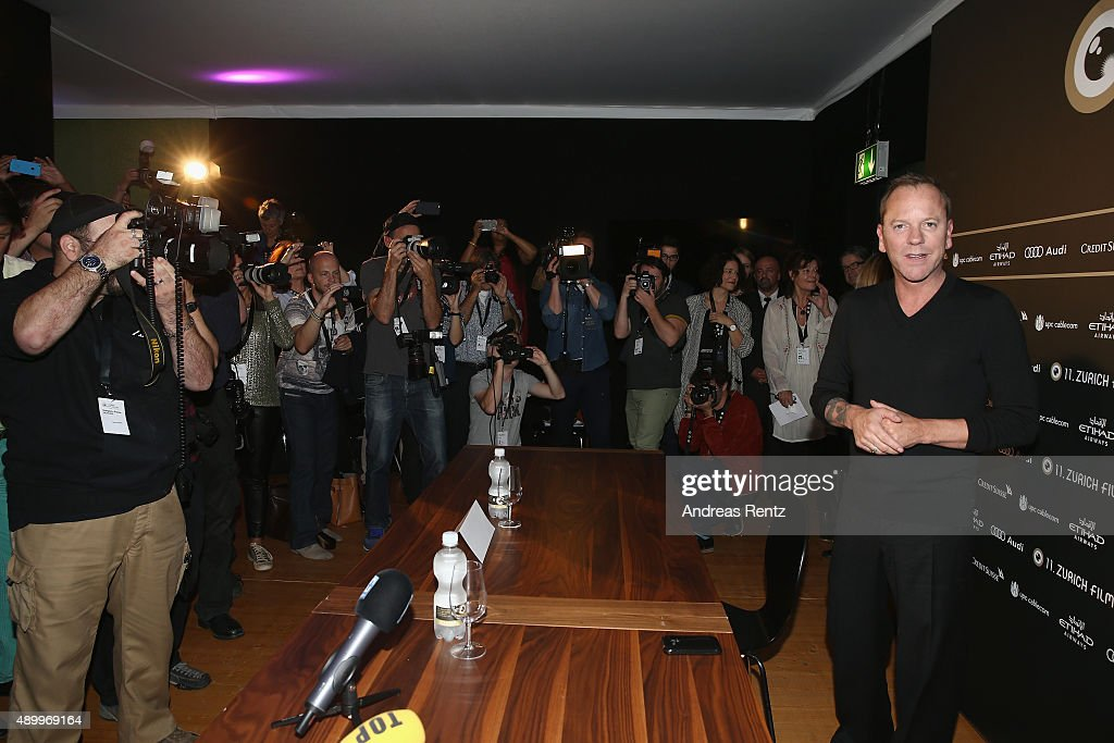Actor Kiefer Sutherland attends the 'Forsaken' Press Conference during the Zurich Film Festival on September 25, 2015 in Zurich, Switzerland. The 11th Zurich Film Festival will take place from September 23 until October 4.