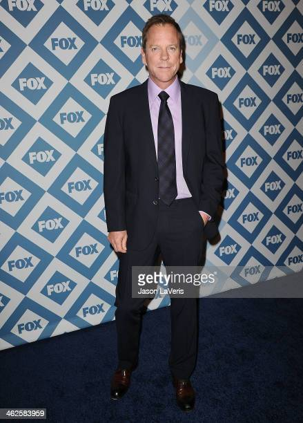 Actor Kiefer Sutherland attends the FOX AllStar 2014 winter TCA party at The Langham Huntington Hotel and Spa on January 13 2014 in Pasadena...