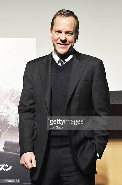 Actor Kiefer Sutherland attends the press conference for '24 Final Season' at Tokyo Midtown on November 16 2010 in Tokyo Japan