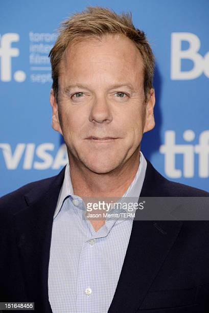 Actor Kiefer Sutherland attends The Reluctant Fundamentalist Photo Call during the 2012 Toronto International Film Festival at TIFF Bell Lightbox on...
