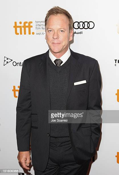 Actor Kiefer Sutherland attends The Reluctant Fundamentalist premiere during the 2012 Toronto International Film Festival at Roy Thomson Hall on...