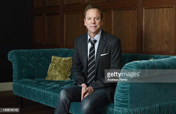 Actor Kiefer Sutherland attends the 'Touch' photocall at Soho House Berlin on March 9 2012 in Berlin Germany