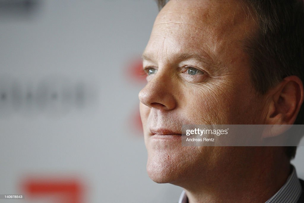 Actor Kiefer Sutherland attends the 'Touch' photocall at Soho House Berlin on March 9, 2012 in Berlin, Germany.