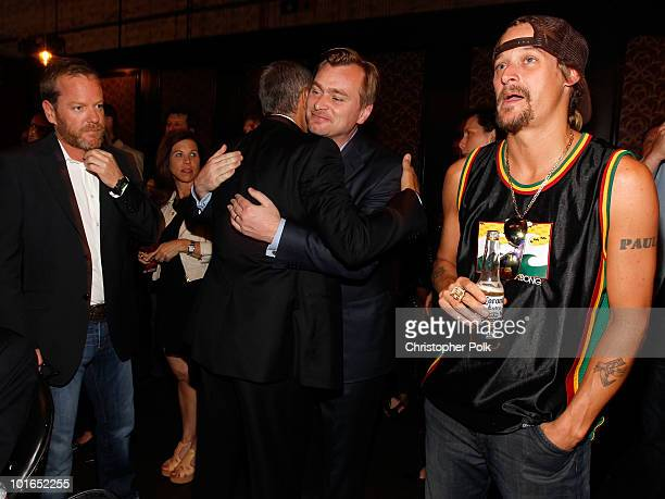 Actor Kiefer Sutherland director Christopher Nolan and musician Kid Rock attend Spike TV's 4th Annual 'Guys Choice Awards' held at Sony Studios on...