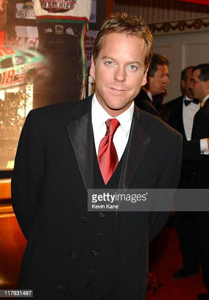 Actor Kiefer Sutherland during The 2003 NASCAR Winston Cup Series Awards Ceremony Celebrity Arrivals at Waldorf Astoria in New York City New York...