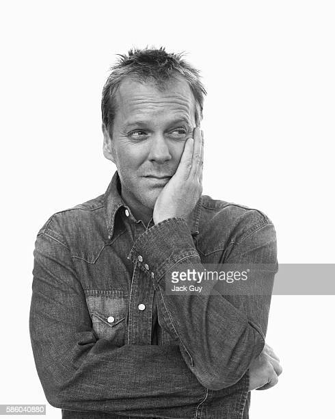 Actor Kiefer Sutherland is photographed for Emmy Magazine in 2003 in Los Angeles California
