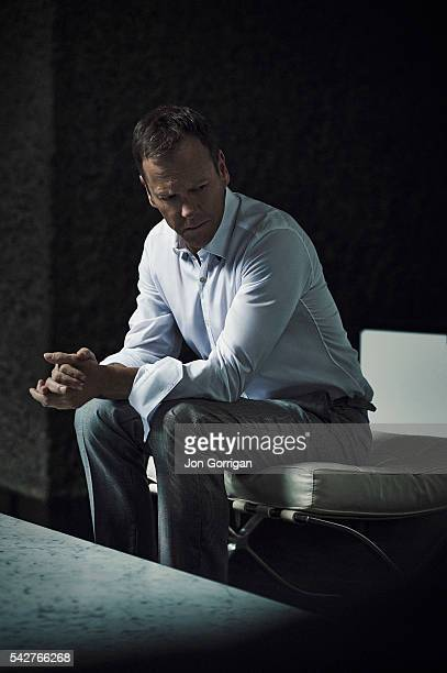 Actor Kiefer Sutherland is photographed for Esquire magazine on March 26 2014 in London England