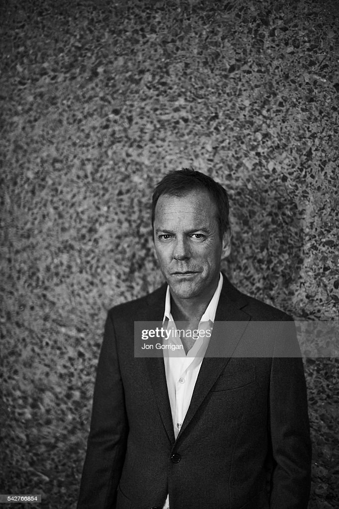 Actor Kiefer Sutherland is photographed for Esquire magazine on March 26, 2014 in London, England.