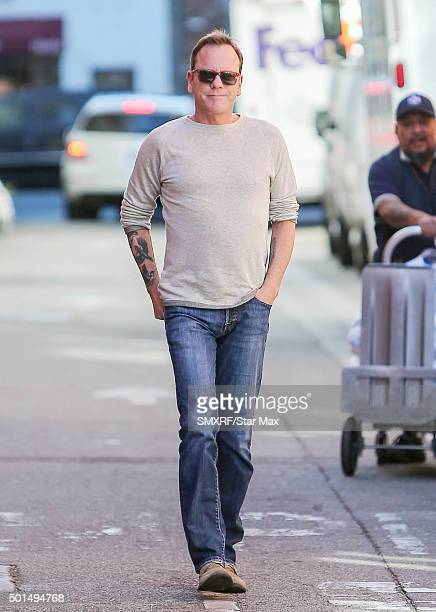 Actor Kiefer Sutherland is seen on December 15 2015 in Los Angeles California