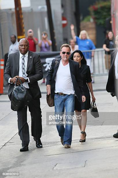 Actor Kiefer Sutherland is seen on September 19 2016 at Jimmy Kimmel Live in Los Angeles California