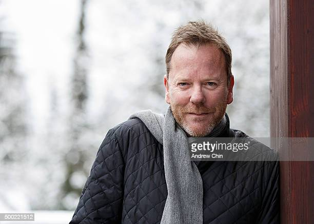 Actor Kiefer Sutherland poses for a portrait in Whistler Village during the 15th Annual Film Festival on December 6 2015 in Whistler Canada