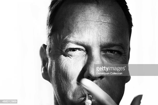 Actor Kiefer Sutherland poses for a portrait session on March 20 2012 in Los Angeles California