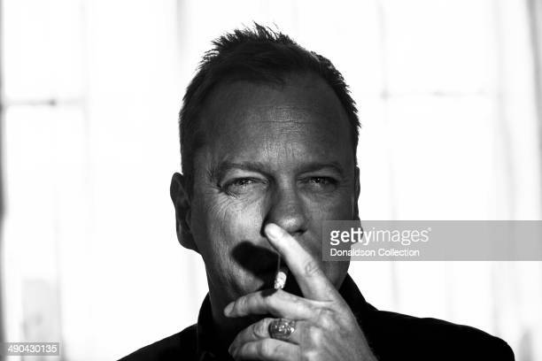 Actor Kiefer Sutherland poses for a portrait session on March 20 2014 in Los Angeles California
