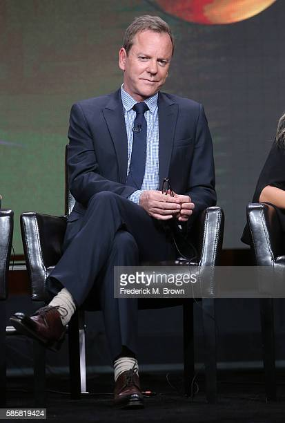 Actor Kiefer Sutherland speaks onstage at the 'Designated Survivor' panel discussion during the Disney ABC Television Group portion of the 2016...