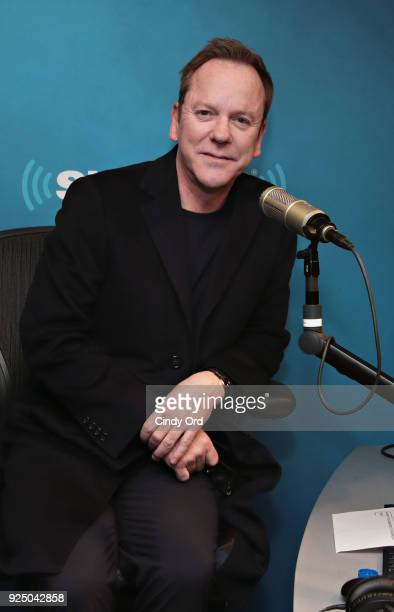 Actor Kiefer Sutherland visits the SiriusXM Studios on February 27 2018 in New York City
