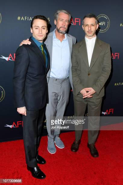 Actor Kieran Culkin Actor Alan Ruck and Actor Jeremy Strong attend the 19th Annual AFI Awards at Four Seasons Hotel Los Angeles at Beverly Hills on...