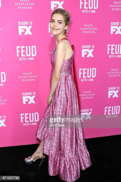 Actor Kiernan Shipka attends FX's 'Feud Bette And Joan' FYC event at The Wilshire Ebell Theatre on April 21 2017 in Los Angeles California