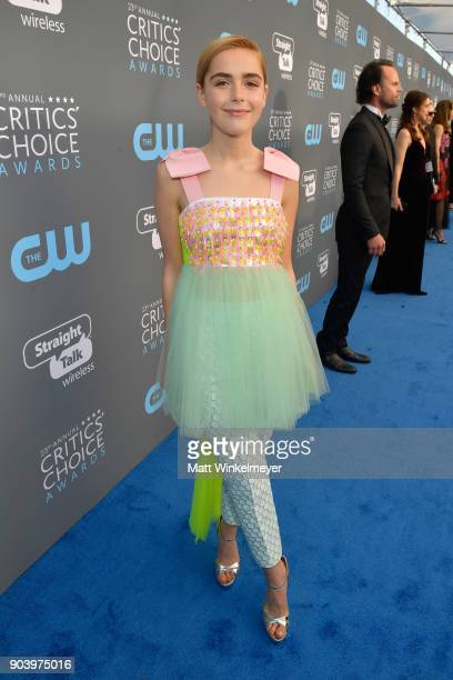Actor Kiernan Shipka attends The 23rd Annual Critics' Choice Awards at Barker Hangar on January 11 2018 in Santa Monica California
