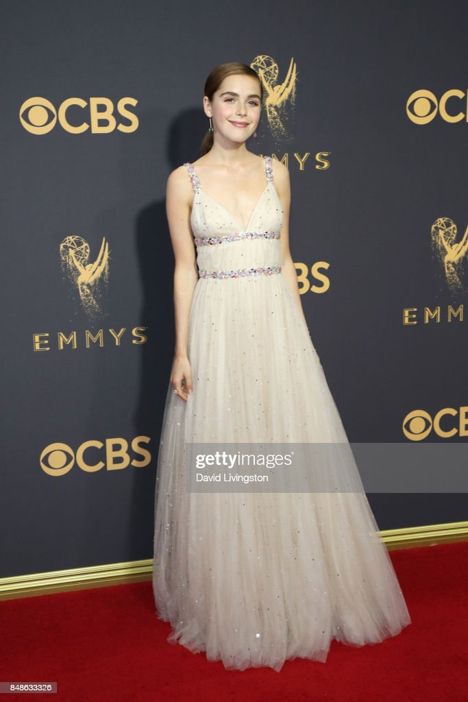 Actor Kiernan Shipka attends the 69th Annual Primetime Emmy Awards at Microsoft Theater on September 17, 2017 in Los Angeles, California.