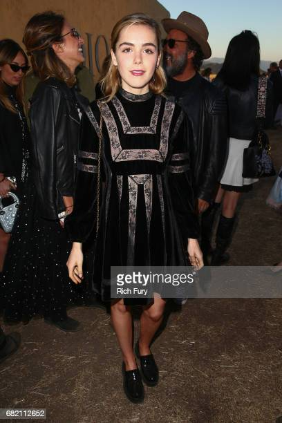 Actor Kiernan Shipka attends the Christian Dior Cruise 2018 Runway Show at the Upper Las Virgenes Canyon Open Space Preserve on May 11 2017 in Santa...