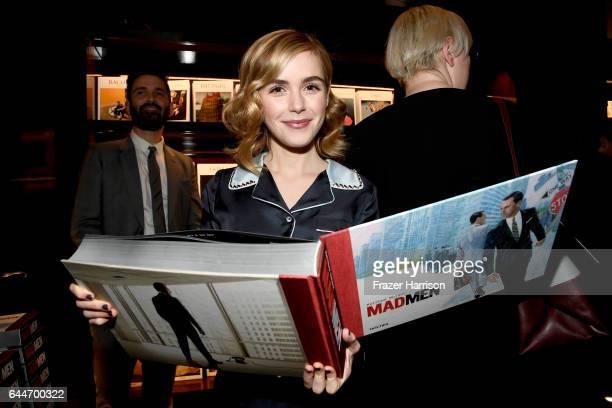 Actor Kiernan Shipka attends the launch for Matthew Weiner's Book 'Mad Men' at TASCHEN Store Beverly Hills on February 23 2017 in Beverly Hills...
