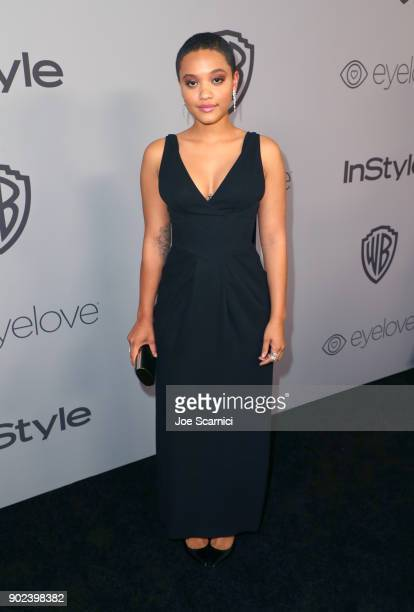Actor Kiersey Clemons attends the 2018 InStyle and Warner Bros 75th Annual Golden Globe Awards PostParty at The Beverly Hilton Hotel on January 7...