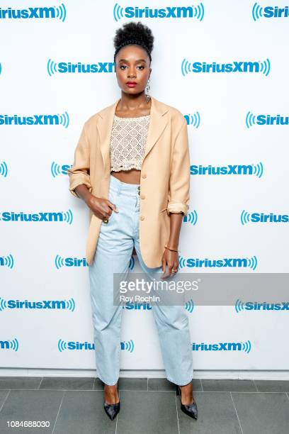 Actor Kiki Layne visits SiriusXM Studios on December 19, 2018 in New York City.