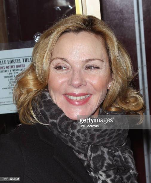 Actor Kim Cattrall attends Really Really Opening Night at the Lucille Lortel Theatre on February 19 2013 in New York City