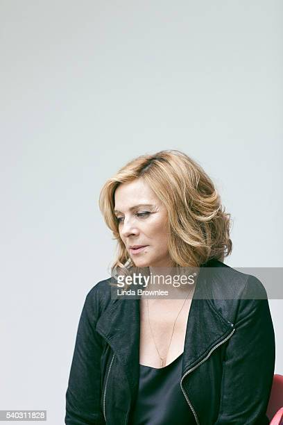 Actor Kim Cattrall is photographed for the Telegraph on October 22 2015 in London England