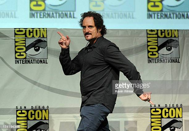 Actor Kim Coates speaks onstage at the Sons Of Anarchy panel during ComicCon International 2013 at San Diego Convention Center on July 21 2013 in San...