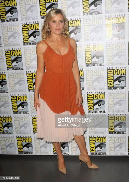 Actor Kim Dickens attends ComicCon International 2017 AMC's 'Fear The Walking Dead' Panel at San Diego Convention Center on July 21 2017 in San Diego...