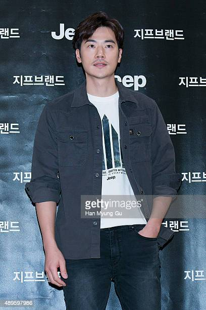 Actor Kim KangWoo makes an appearance at Jeep Brand at Hyundai Department Store on September 23 2015 in Seoul South Korea