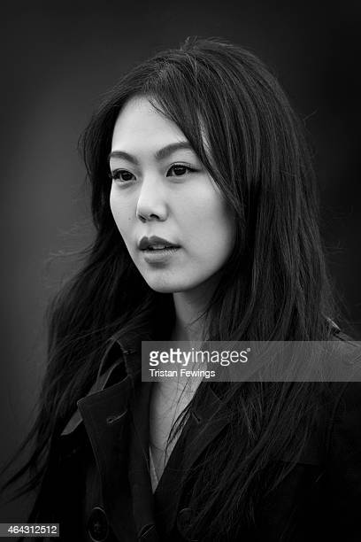 Actor Kim MinHee is photographed on February 23 2015 while attending Burberry Porsum Fashion show in London England