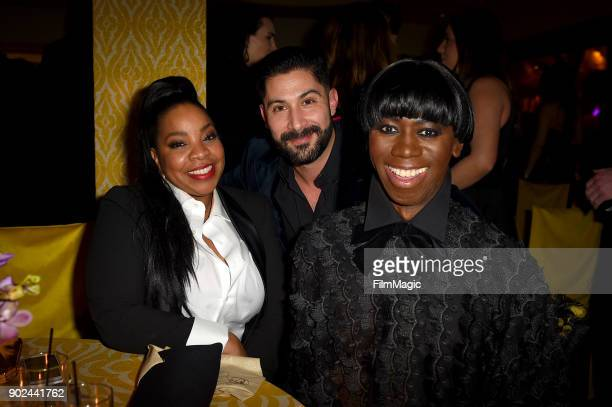 Actor Kimberly Hebert Gregory and J Alexander attend HBO's Official Golden Globe Awards After Party at Circa 55 Restaurant on January 7 2018 in Los...