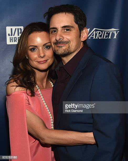 Actor Kimberly WilliamsPaisley and Singer/Songwriter Brad Paisley attend the 1st Annual Nashville Shines for Haiti concert Hosted by Johnathon Arndt...