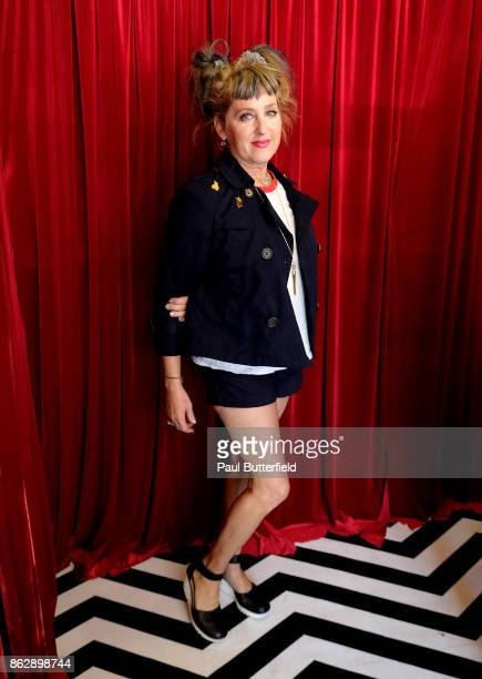 Actor Kimmy Robertson poses at Showtime's 'Twin Peaks' Double R Diner PopUp on Melrose Avenue on October 18 2017 in Los Angeles California