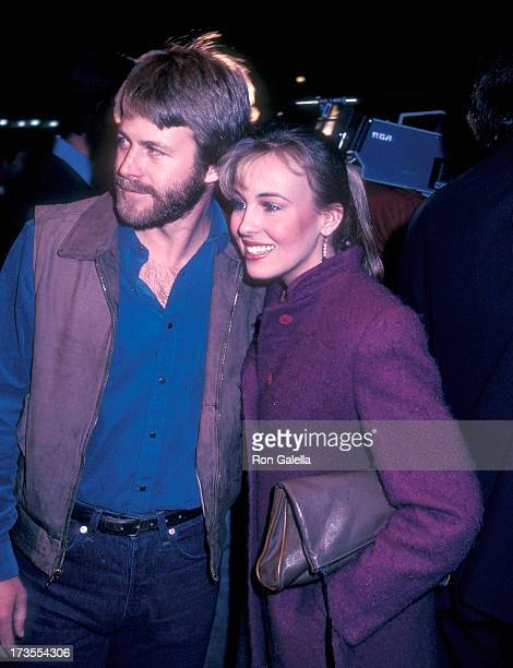 Actor Kin Shriner and actress Genie Francis attend the LA Connection Comedy Club's CatWomen of the Moon Live Dubbing Comedy Show on February 25 1983...
