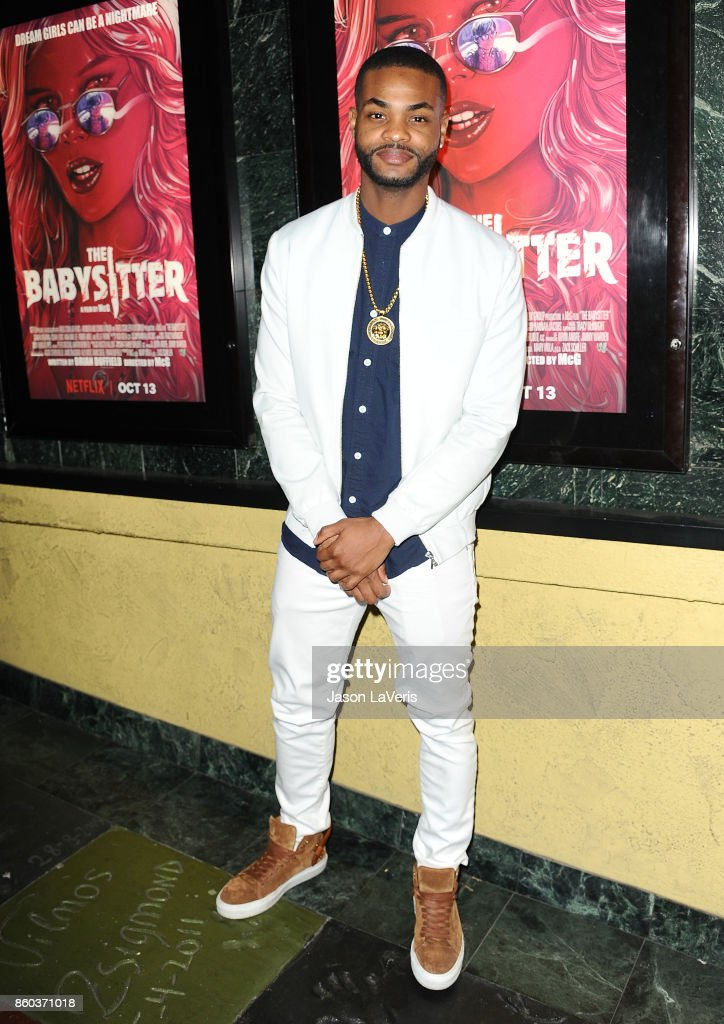 Actor King Bach attends the premiere of 'The Babysitter' at the Vista Theatre on October 11, 2017 in Los Angeles, California.