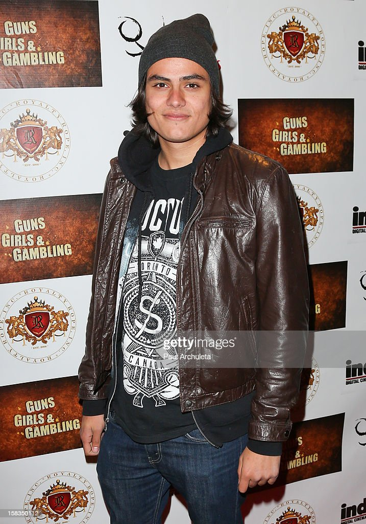 Actor Kiowa Gordon attends the 'Guns, Girls & Gambling' screening at the Laemmle NoHo 7 on December 13, 2012 in North Hollywood, California.