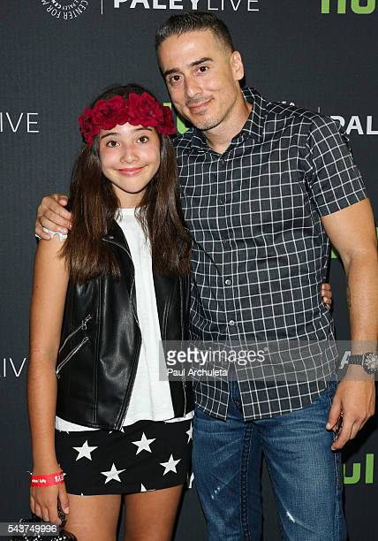 """Actor Kirk Acevedo and his Daughter Scarlett James Acevedo attend PaleyLive LA's screening of """"12 Monkeys"""" at The Paley Center for Media on June 29,..."""