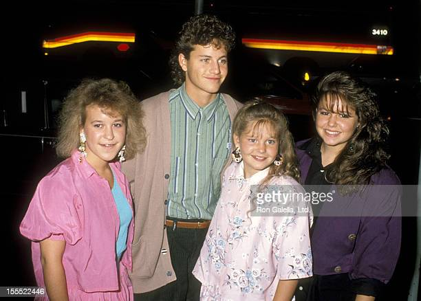 Actor Kirk Cameron Actress Candace Cameron and Sisters Bridgette Cameron and Melissa Cameron arrive at the Punchline Hollywood Premiere on September...