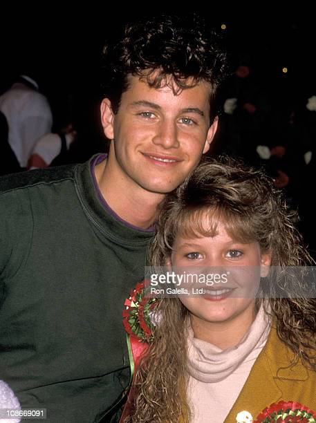 Actor Kirk Cameron and Sister Actress Candace Cameron attend the 58th Annual Hollywood Christams Parade on November 27, 1989 in Hollywood, California.
