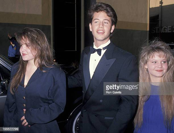 Actor Kirk Cameron and sisters Candace Cameron and Bridgette Cameron on March 11 1990 at Universal Ampitheater in Universal City California