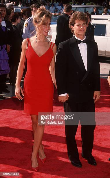 Actor Kirk Cameron and wife Chelsea Noble attending 42nd Annual Primetime Emmy Awards on September 16 1990 at Pasadena Civic Auditorium in Pasadena...