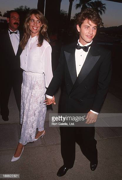 Actor Kirk Cameron and wife Chelsea Noble attending American AllStar Tribute to Oprah Winfrey on September 8 1990 at McCallum Theater in Palm Desert...