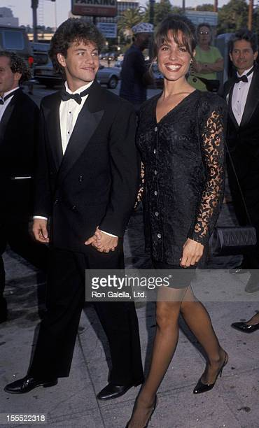 Actor Kirk Cameron and wife Chelsea Noble attending American Teacher Awards on October 7 1990 at The Pantages Theater in Hollywood California