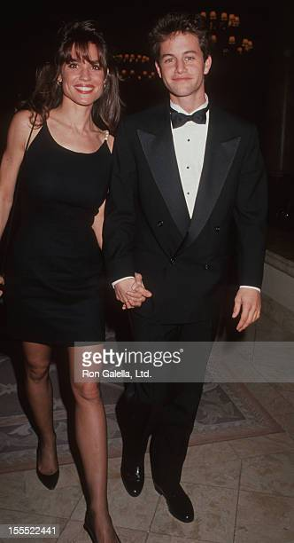 Actor Kirk Cameron and wife Chelsea Noble attending Starlight Foundation Gala on March 16 1991 at 20/20 Club in Beverly Hills California