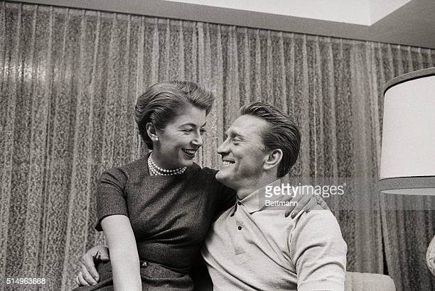 Actor Kirk Douglas and his wife Anna are all smiles after his nomination for an Academy Award by the Motion Picture industry Feb 18th Douglas was...