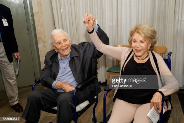 Actor Kirk Douglas and his wife Anne Douglas attend the 25th Anniversary Of The Anne Douglas Center at Los Angeles Mission on May 4, 2017 in Los...